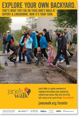 Poster for Jane's Walk in Toronto