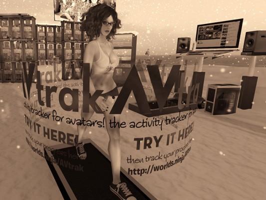 photo of Soto Hax walking on a VR Treadmill
