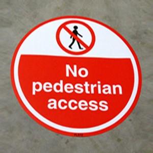 "street sign stating ""No Pedestrian Access"""