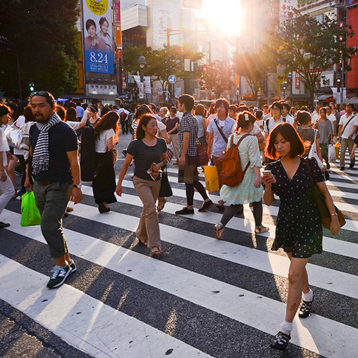 Shibuya Crossing, Shibuya, Tokyo, Japan