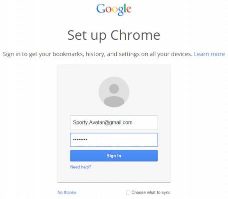 screen cap of Google Chrome v39