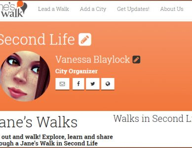 Jane's Walk Second Life 2018