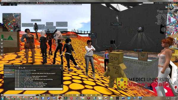 avatars at Medici University at LEA23 in Second Life