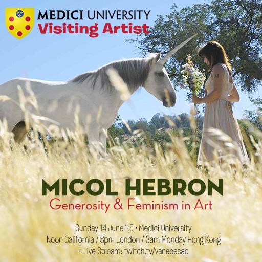 Micol Hebron, visiting artist, Medici University