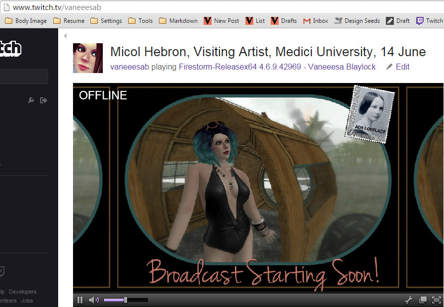 screen cap of Twitch.tv interface