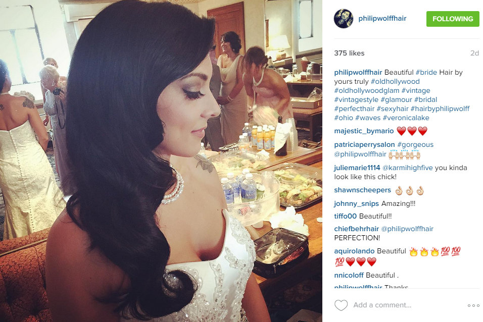 Wedding hairstyle on Instagram by Philip Wolff
