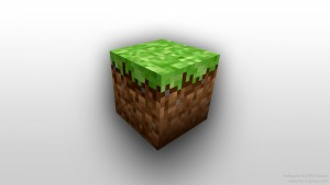 """a """"block"""" from the game Minecraft"""