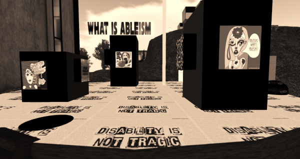 posters discussing ableism
