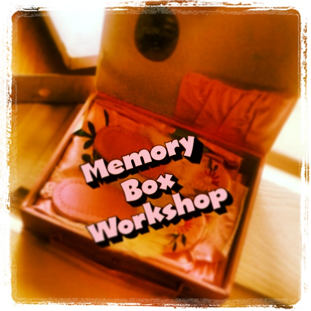 poster for memory box workshop